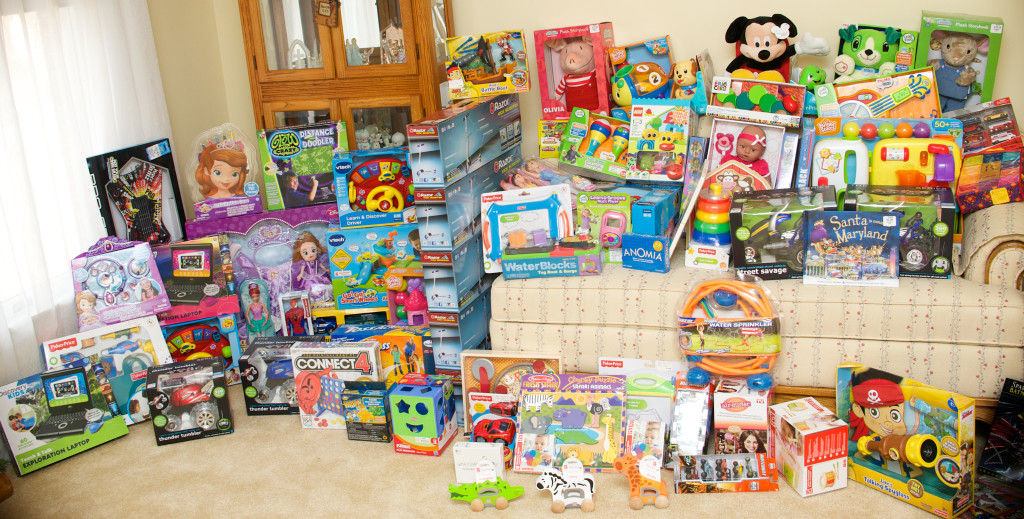 Toys collected during our Stories with Santa Event on November 23, 2013