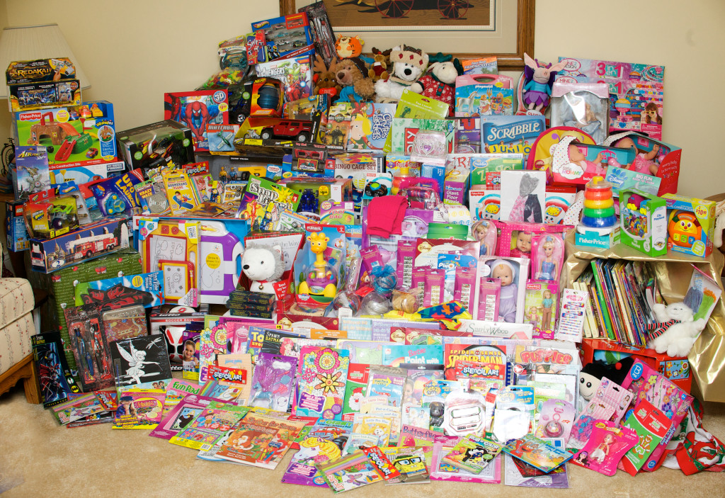 Toys collected at Magothy United Methodist Church in November and December 2013