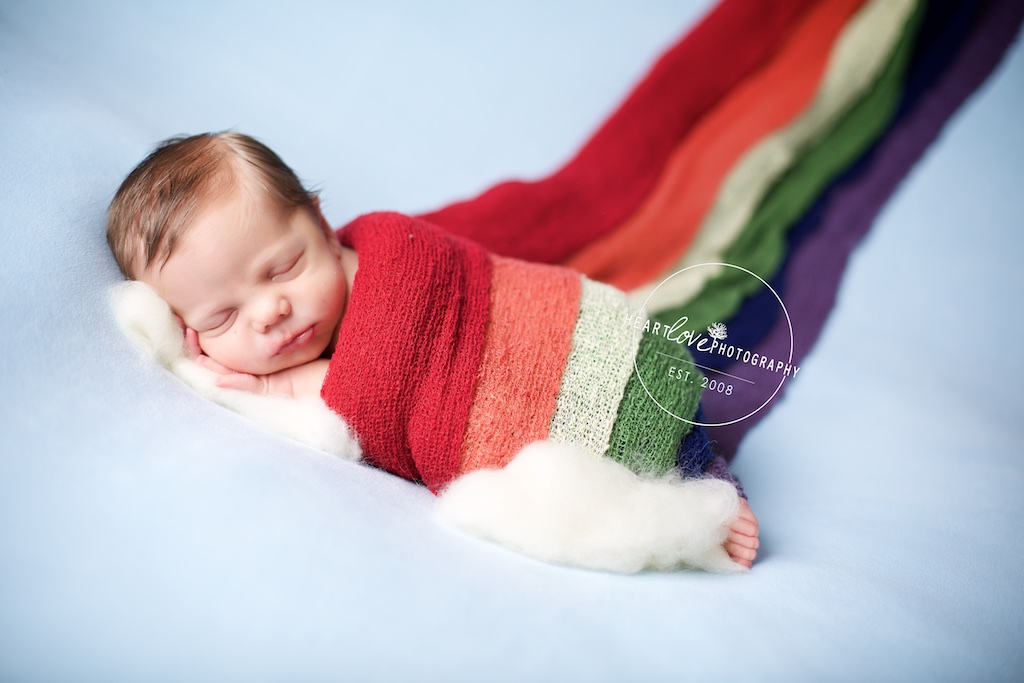 Rainbow Baby Newborn Photography