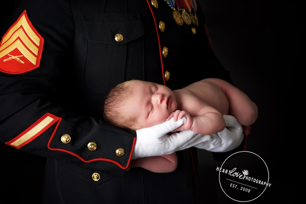 Fort Meade Marine Corps Newborn Photographer