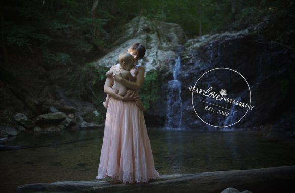waterfall nursing portraits | baltimore md photographer