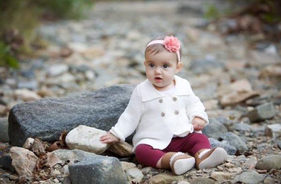 6 month milestone portraits | maryland outdoor photography