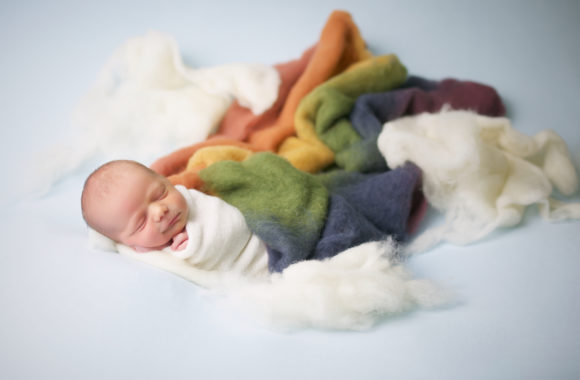 rainbow baby | pasadena, md newborn photography studio